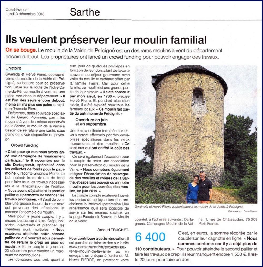 2018 12 03 OF moulin à vent de la Vairie à Précigné