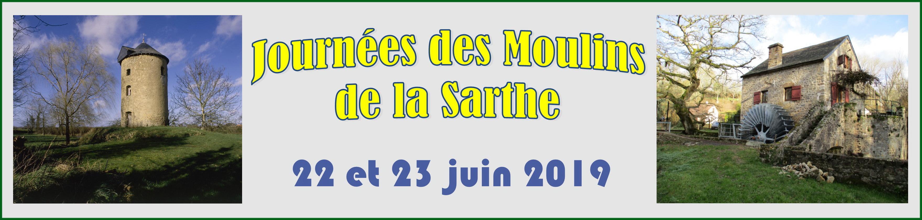 Annonce Journées des moulins Sarthe