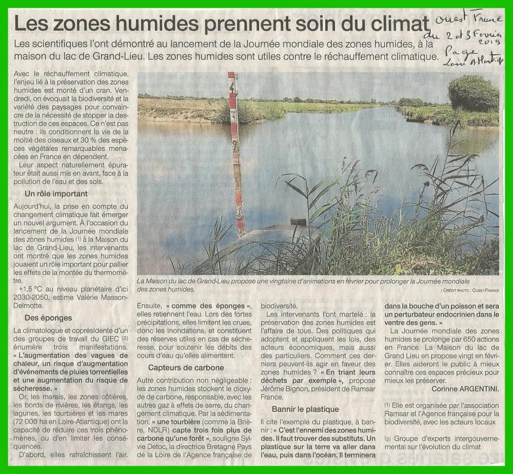 les zones humides prennent soin du climat