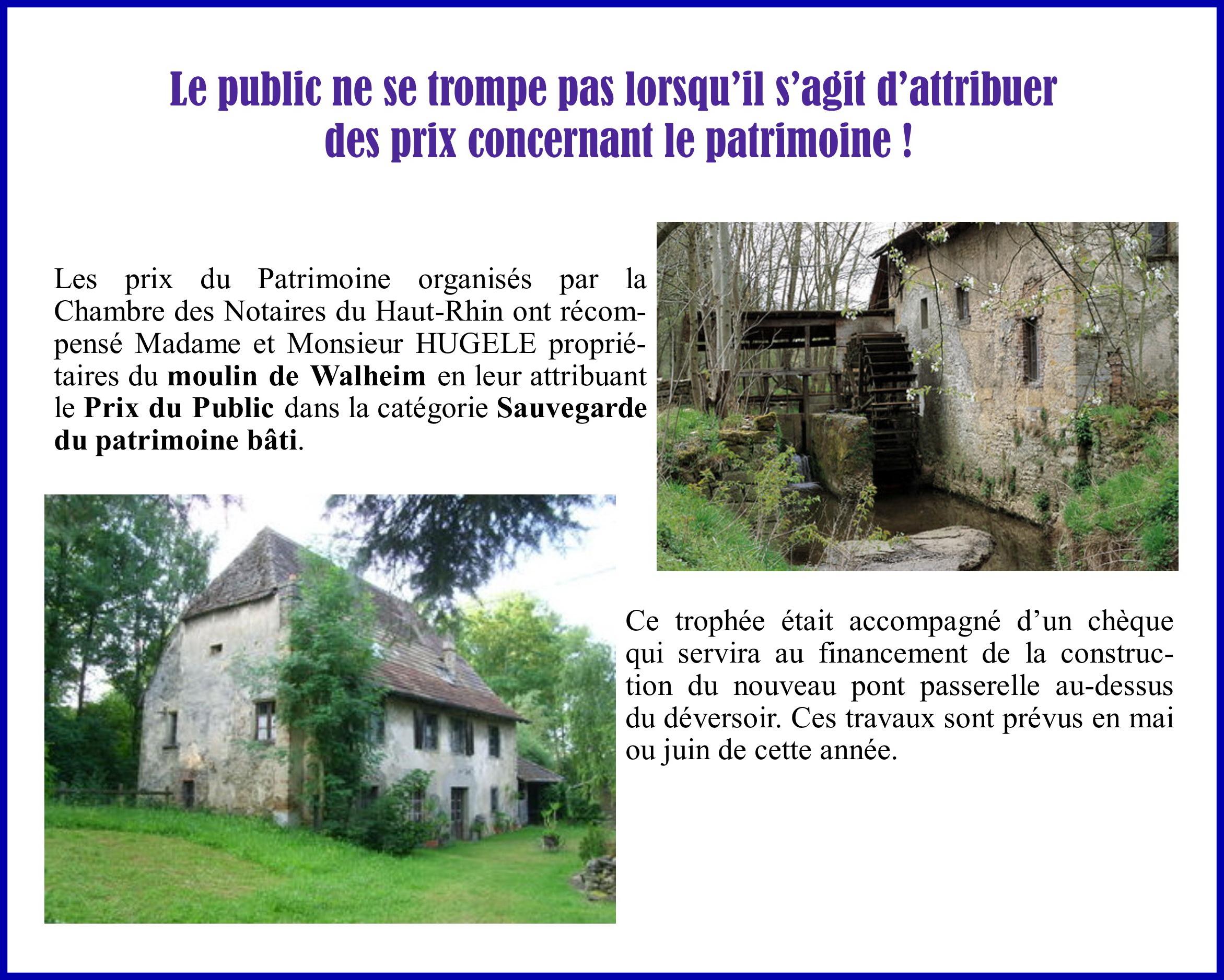Prix du patrimoine Haut-Rhin