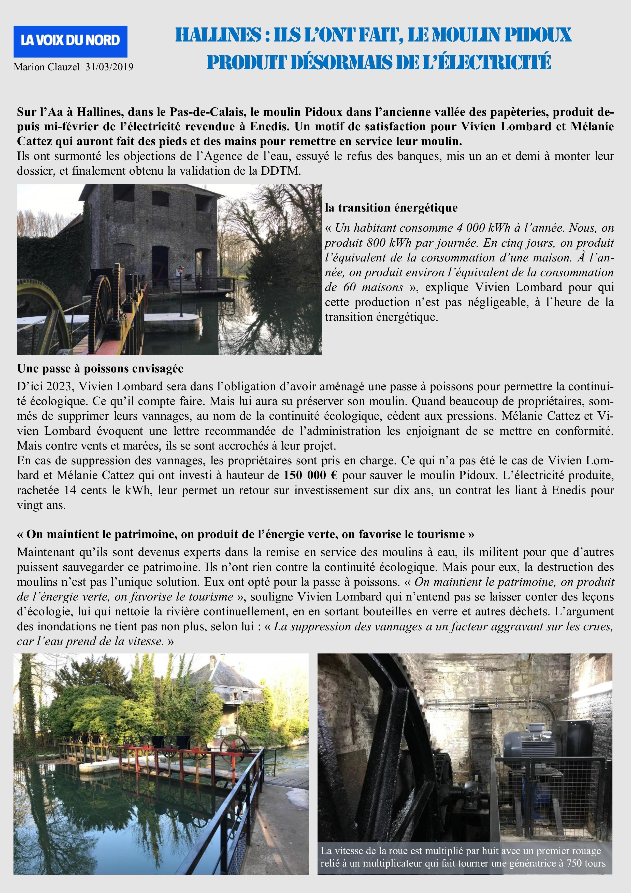 Le moulin Pidoux Hallines -62