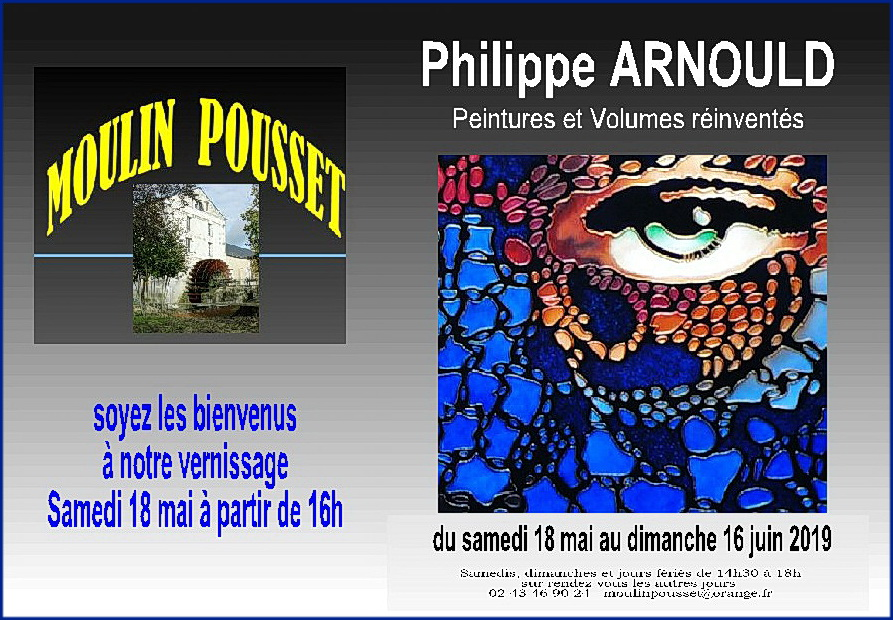 Invit 2ème expo 2019 Ph.ARNOULD Moulin Pousset