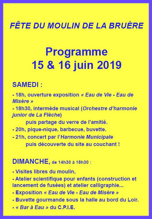 La Bruere fête 2019 verso