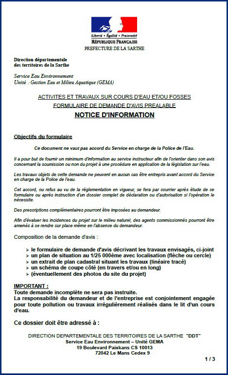 Notice d'information page 1