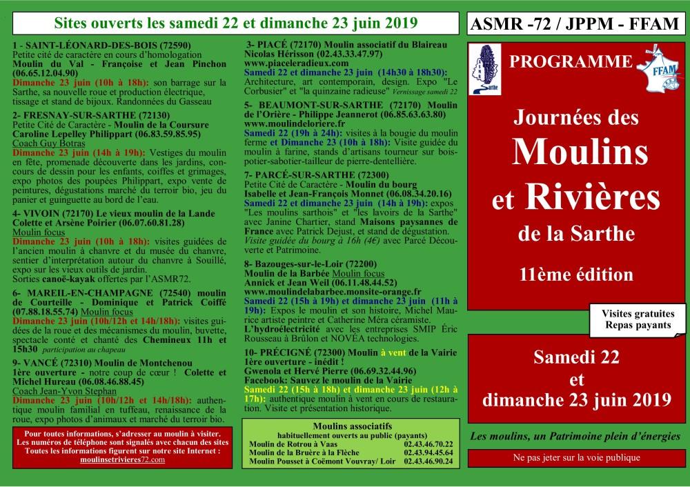 RECTO DÉPLIANT Détails des ouvertures 2019