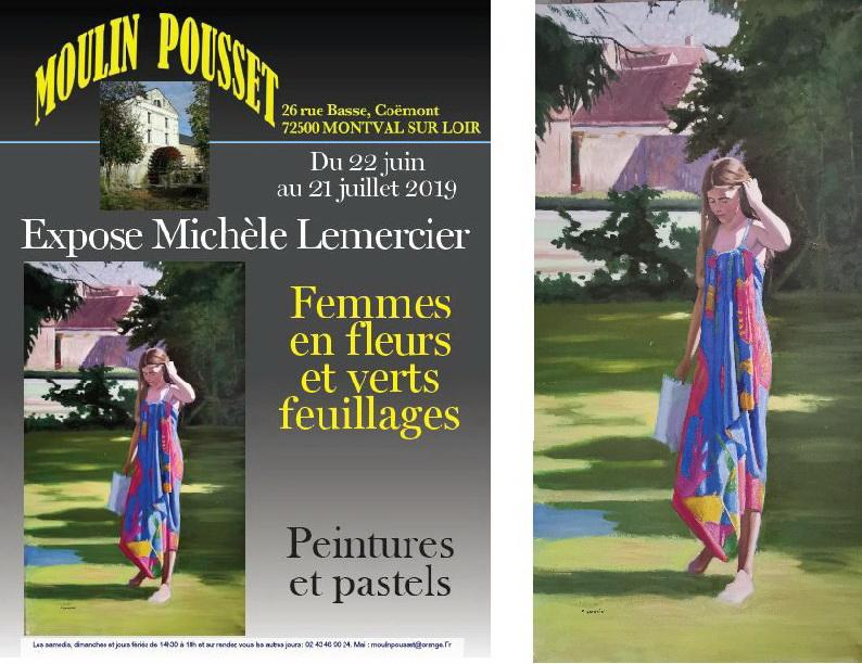 Expo moulin Pousset Michèle Lemercier