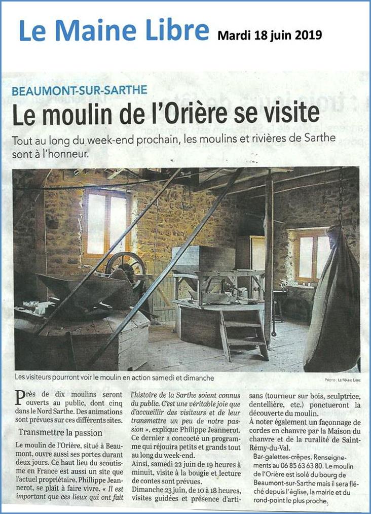 Moulin de l'Orière à Beaumont