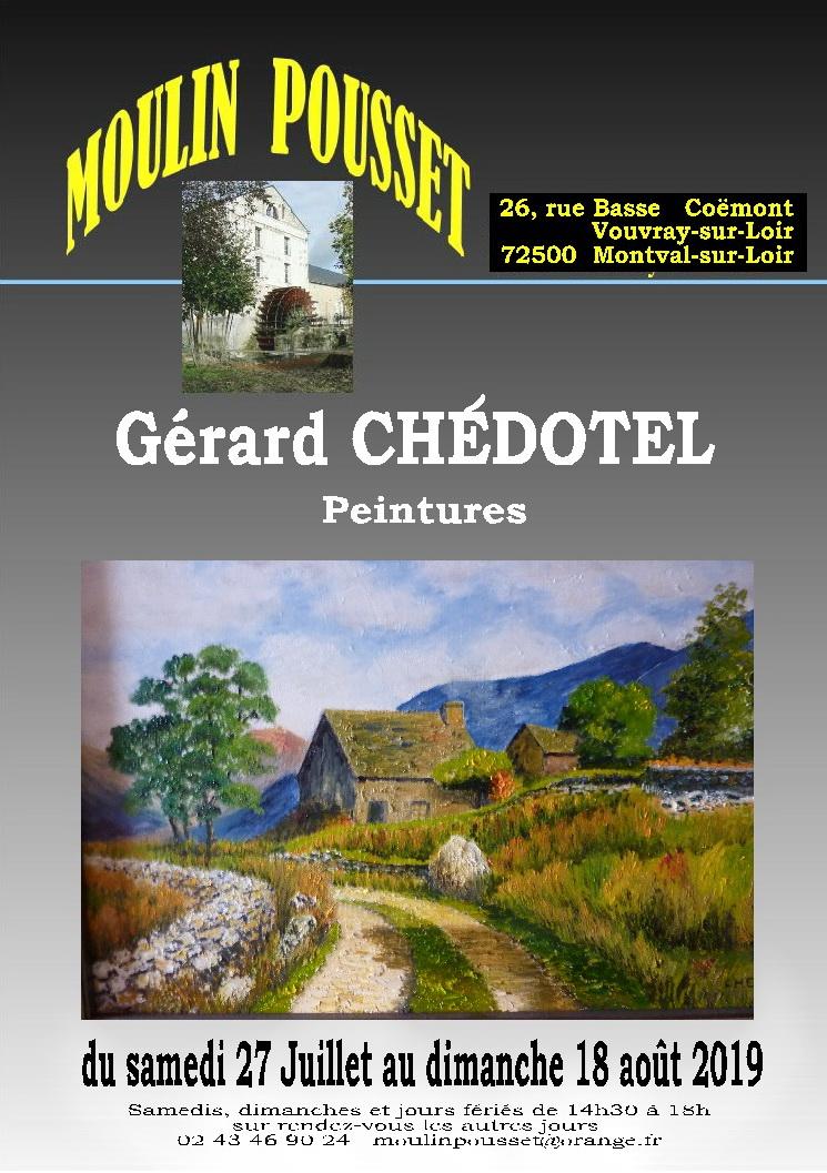 Affiche Gérard Chedotel moulin Pousset