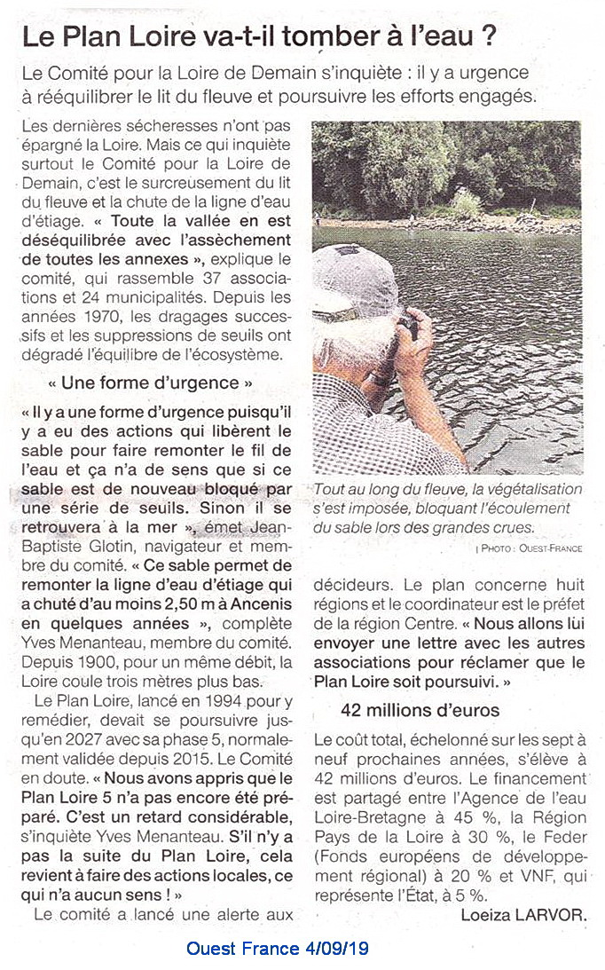Plan Loire va t'il tomber à l'eau