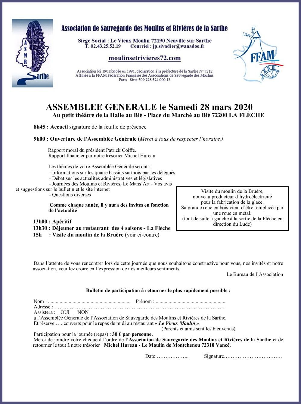 2020 28 mars AG La Flèche SANS RIB
