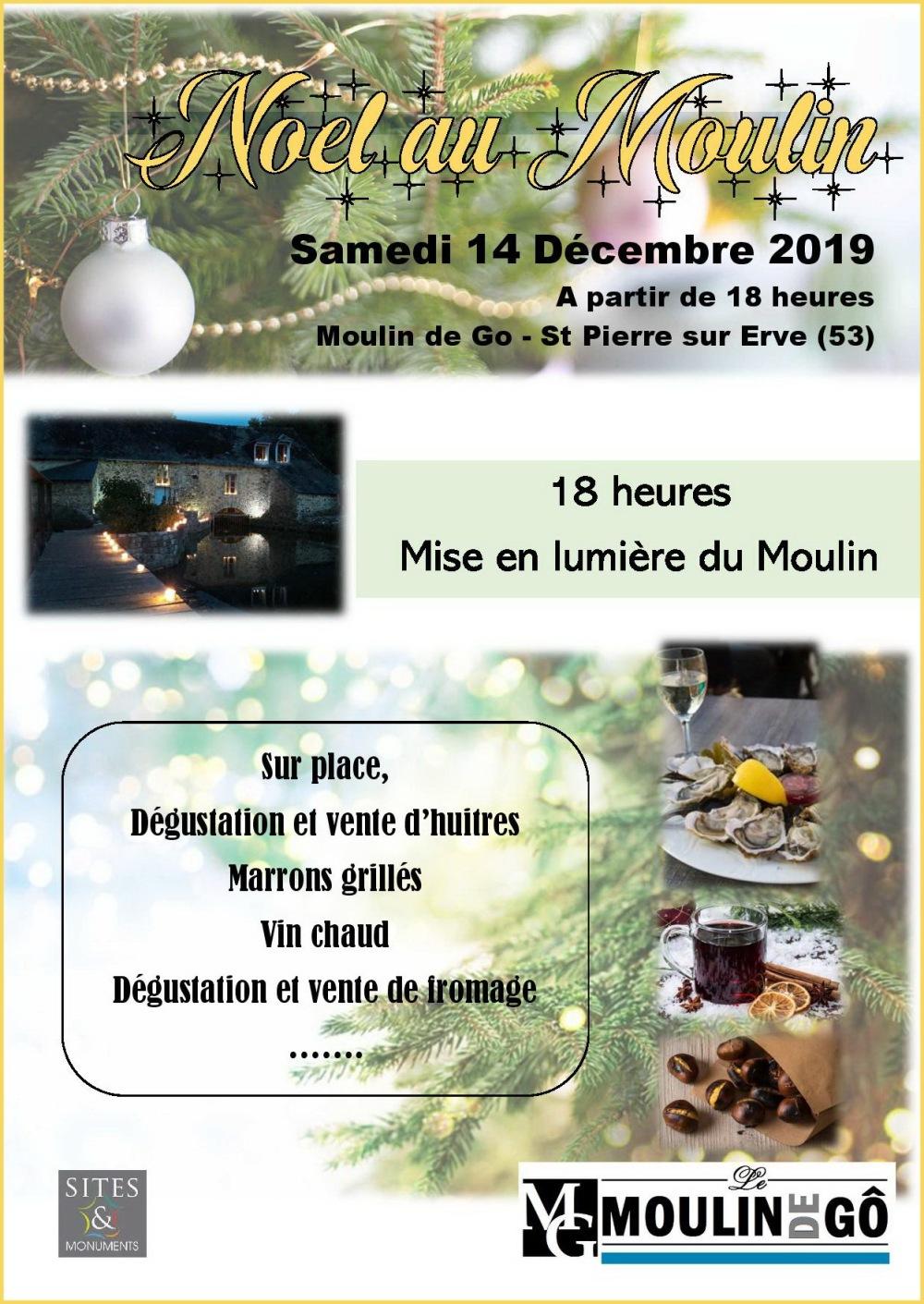 Affiche Noel au Moulin de Go