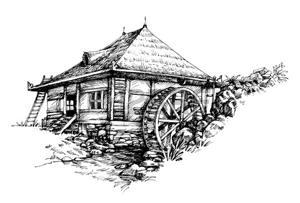46666332-main-moulin-illustration-artistique-dessinée