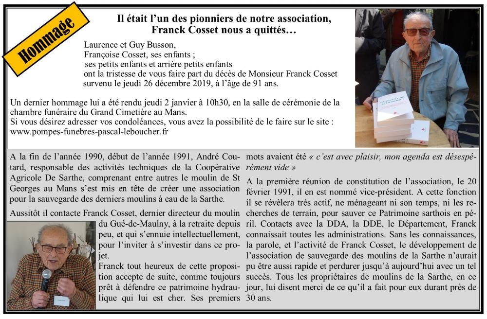 Hommage Franck Cosset