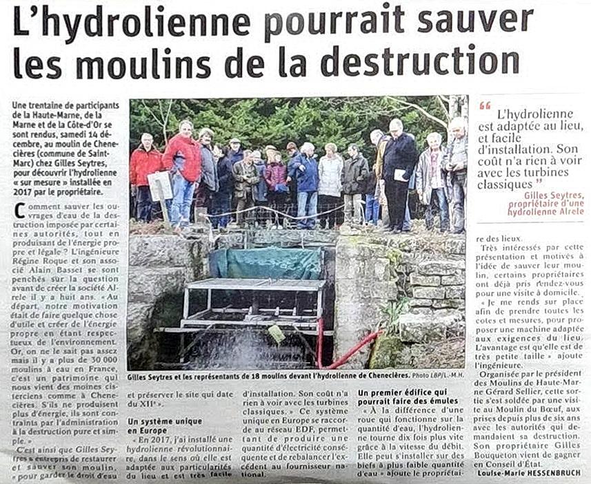 Hydrolienne Alrele