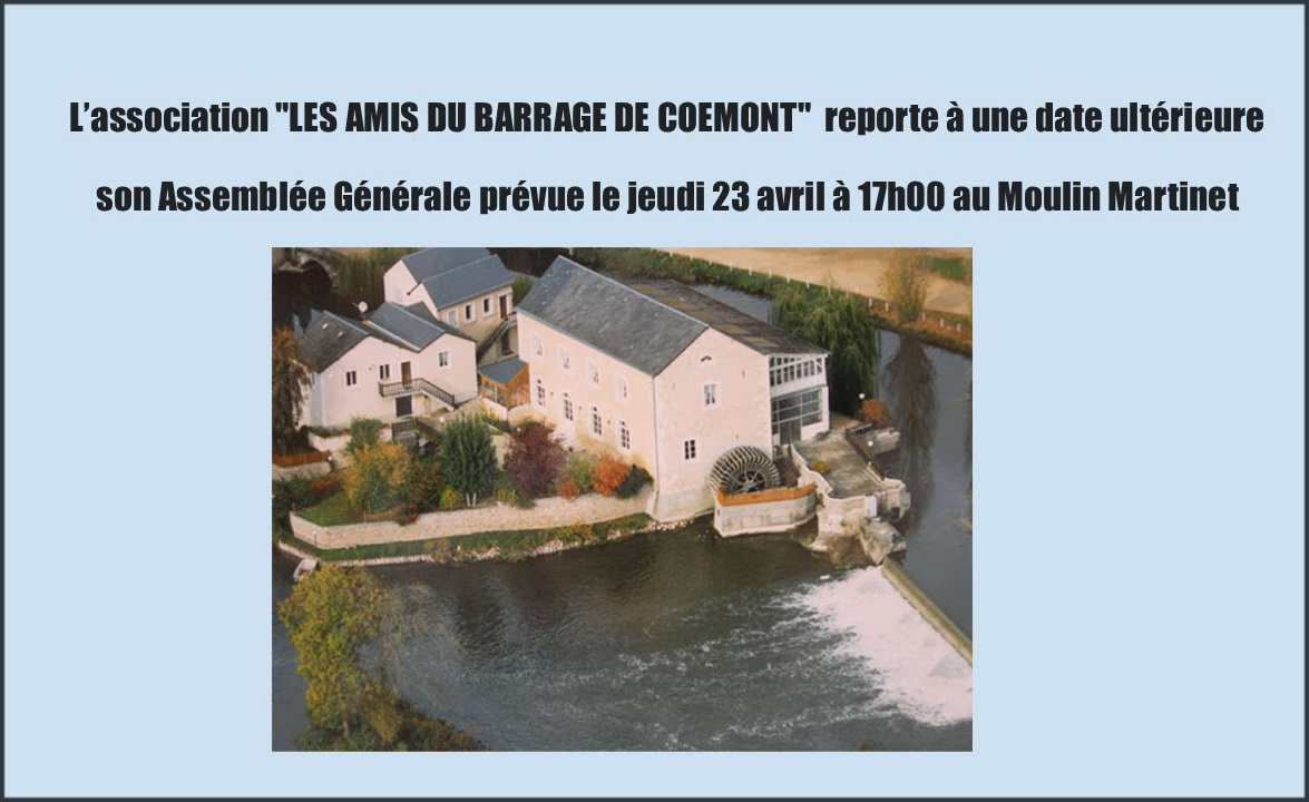 Report AG barrage de coemont