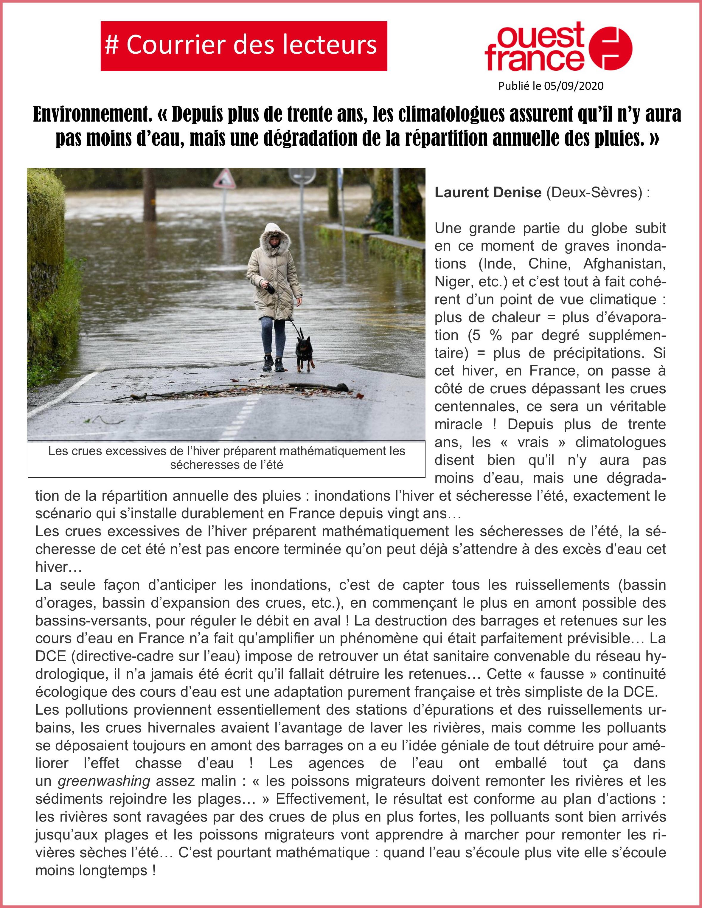 Courrier des lecteurs Ouest France