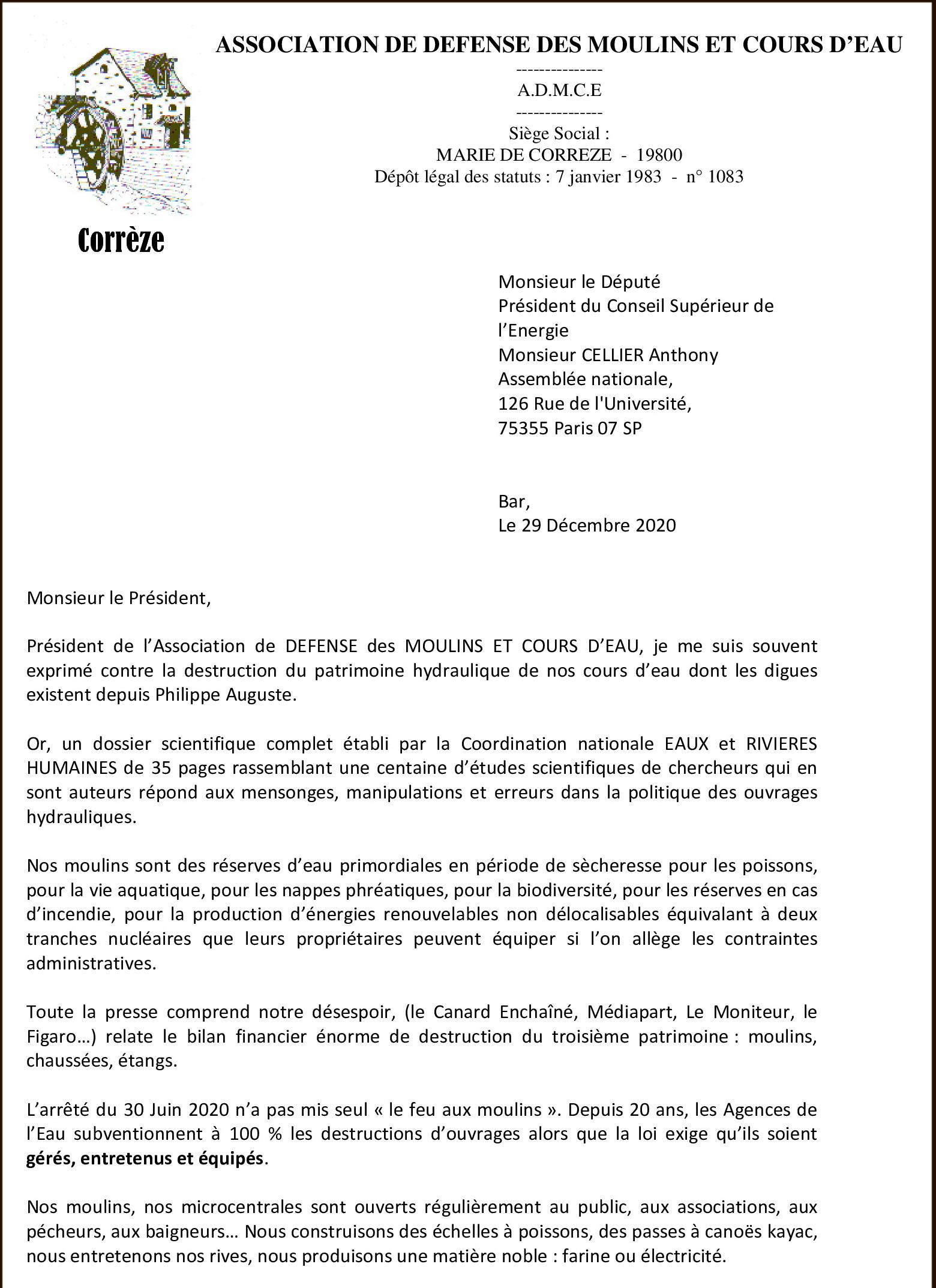 ADMCE Corrèze page 1