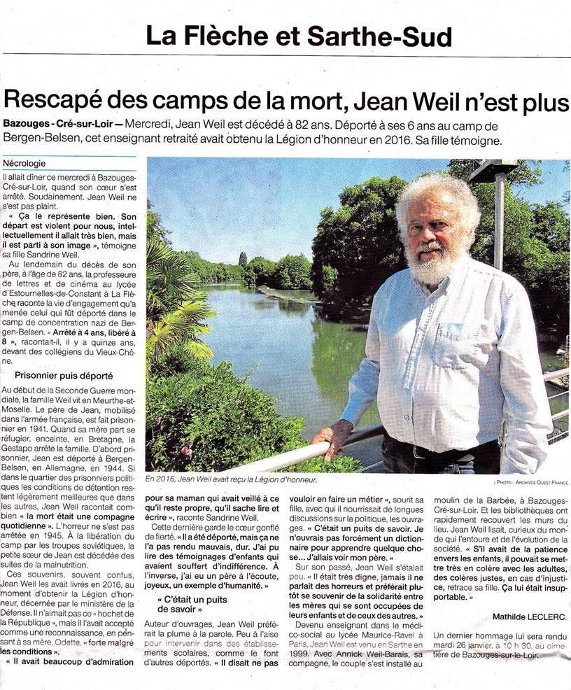 Décès Jean Weil