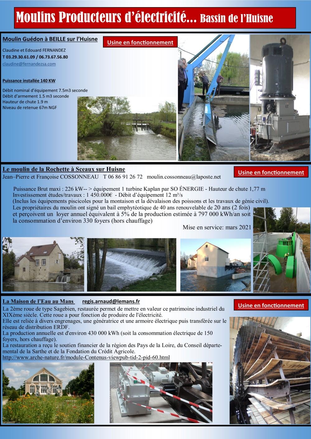 Hydroélectricité Huisne